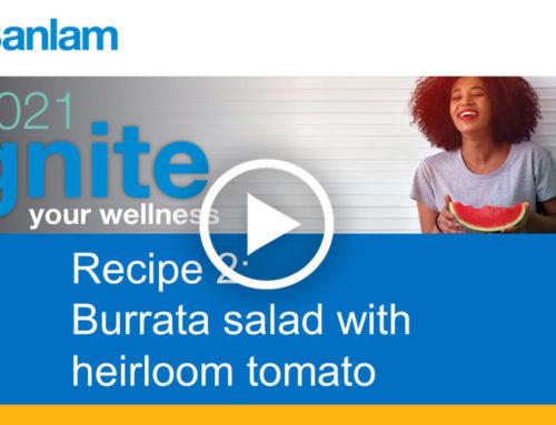 Healthy Cooking with Chef Darren Hayter Dish 2: Burrata Salad