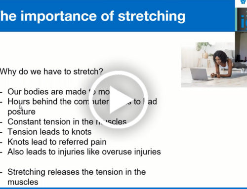 The Importance of Stretching presented by Dr Leonie Bosch Chiropractor